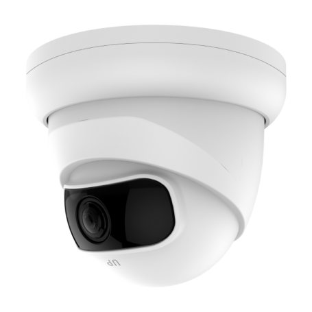 2MP Wide Angle IP Fixed Vandal Dome w/ PoE | White