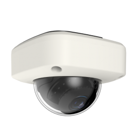 2MP IP Fixed Low Profile Dome w/ Protective Cover & PoE | White